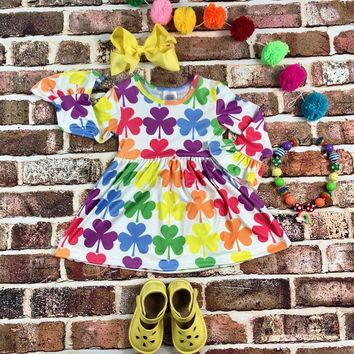 RTS Rainbow Clover Dress D35