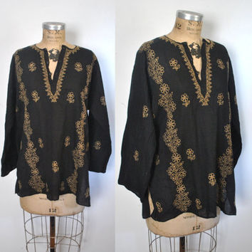 India Gauzy Cotton Top Shirt / ethnic tunic blouse / S-L