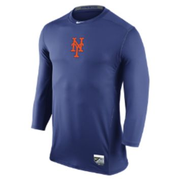 Nike Hypercool Dri-FIT 3/4-Sleeve (MLB Mets) Men's Shirt Size Medium (Blue)