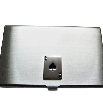 Shiny Ace of Spades Business Card Holder