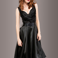 NIGHTS OF BLACK SATIN DRESS