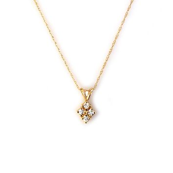14kt Gold Diamond Love-Shield Pendant