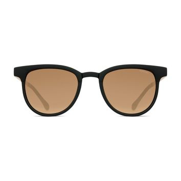 Komono - Francis Black Gold Sunglasses / Scratch Resistant Polycarbonate Lenses