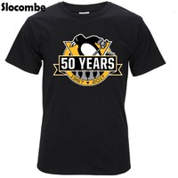 Pittsburgh Penguins Mens O Neck T-Shirt Man 100% Cotton Cool Tees T Shirt Tops