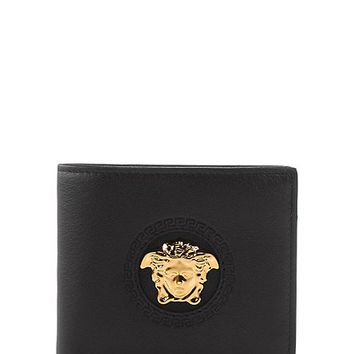 Versace - Medusa calf leather wallet