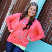 Simple and Carefree Long Sleeve Dolman Top-More Colors