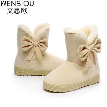 2016 shoes woman winter boots simple solid ankle boots for women cow muscle bottomed chaussure botas mujer fashion tide GR905