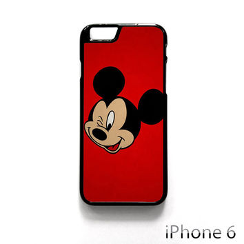 Mickey Mouse Red Background Wallpaper for Iphone 4/4S Iphone 5/5S/5C Iphone 6/6S/6S Plus/6 Plus Phone case