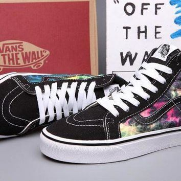 CREYONS VANS SK8-Hi Canvas Print Flats Ankle Boots Sneakers Sport Shoes