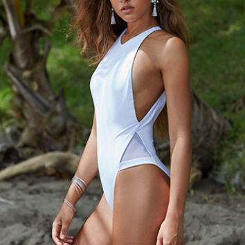 4046054d420 LA Hearts Mesh Inset One Piece Swimsuit at PacSun.com