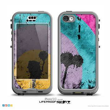 The Colorful Grunge Target Skin for the iPhone 5c nüüd LifeProof Case