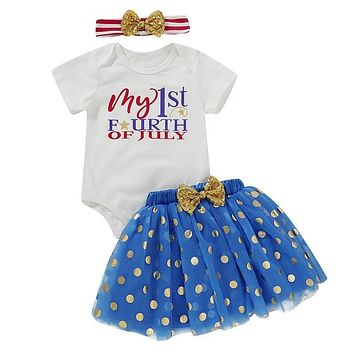3PC Set My 1st Fourth of July Outfit