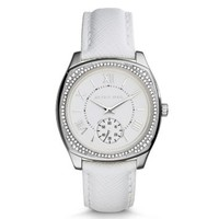 Bryn Silver-Tone Leather Watch | Michael Kors