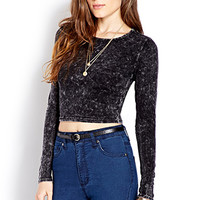 Mineral Wash Crop Top