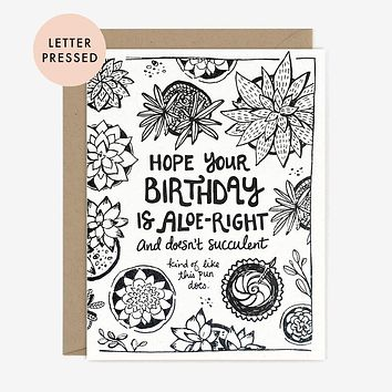 Paper Pony Co. - Succulent Birthday Card