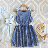 Indigo & Lace Dress