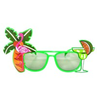 Hawaii Beach Sunglasses Lemon Coconut Tree Flamingo Tropical Party Glasses for adult