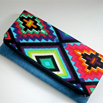Fold Over Clutch Bag - Navajo Turquoise Womans Fashion