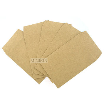 Mini Envelopes Small Wedding Bomboniere Favours Seed Natural Kraft Brown Rustic Eco Recycled Pack of 25 10cm x 6.5cm