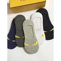 FENDI Trending Women Men Stylish Breathable Cotton Sport Socks - Boxed I13795-1