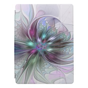 Colorful Fantasy Abstract Modern Fractal Flower iPad Pro Cover
