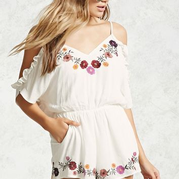 Floral Open-Shoulder Romper