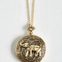 Quirky Safari-sighted Necklace by ModCloth