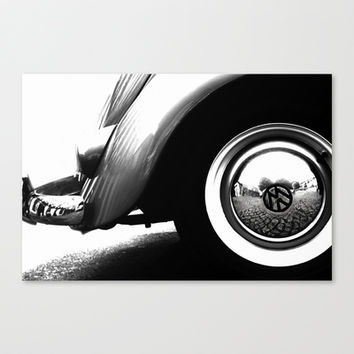 VW Beetle Stretched Canvas by ingz