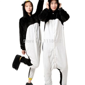 New Arrival Cartoon Bad Badtz Maru Penguin Cosplay Pajamas Winter Adult Onesuit Halloween Cosplay Costume Party Couple Sleepwear