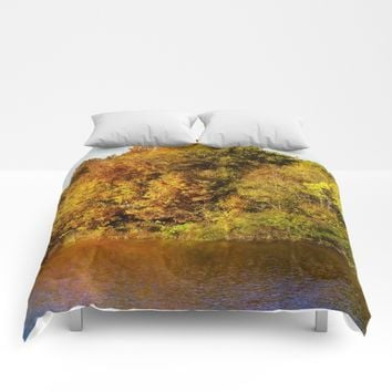 Autumn Blaze Comforters by Theresa Campbell D'August Art