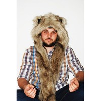 """Beast Hat """"Grizzly """", mod. A, faux fur, animal style, with long ears!"""