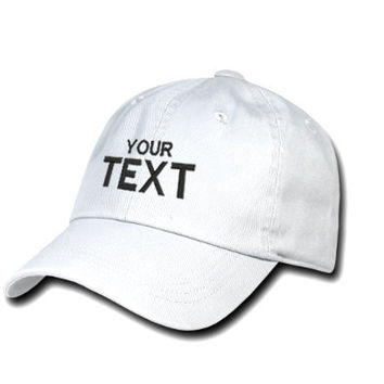 White Custom Embroidered Baseball Cap, Your Own Personalized Hat Custom Hat on a Curved Brim Baseball Cap, Choose Your Text