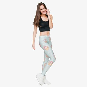 Pastel Cupcakes Leggings