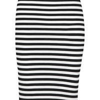 Milly - Riviera striped cotton-blend jersey pencil skirt