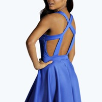 Jess Caged Back Skater Dress