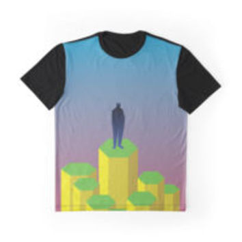 'Hexagons' Graphic T-Shirt by FlyNebula