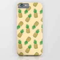 Creamy Pineapple Summer Pattern iPhone & iPod Case by Doucette Designs