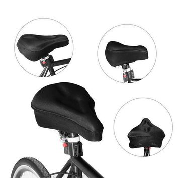 DCCKH0D Bike Gel Cushion Cover Bicycle Saddle Cover Extra Soft Gel Bicycle Seat for Mountain Bike Stationary Exercise Bike Outdoor Indoor Cycling