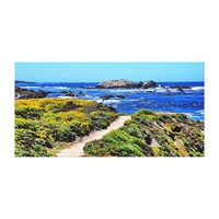 60 X 29 LOVELY SCENIC OCEAN VIEW CANVAS WRAP