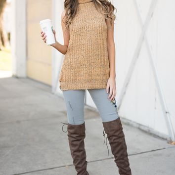 Tallie Sleeveless Sweater (Mustard)
