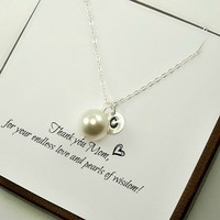 Personalized Mom Necklace, Mom Necklace, Mother's Day Gifts, Mother's Necklace Initials, Mom Birthday Gift, New Mom Necklace, New Mom Gifts