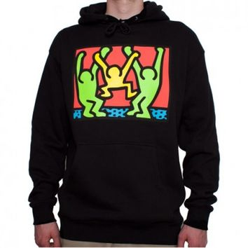 Obey Keith Haring Friends Hooded Sweatshirt (Black)
