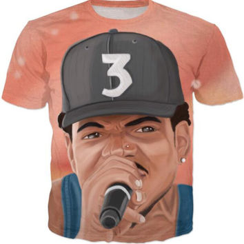 Dmart7dealChance The Acid Rapper T-Shirt Women/Men Pink Sky Space Candy Design Shirt Jersey Casual Outfits Galaxy Rap Boy Tees Jersey