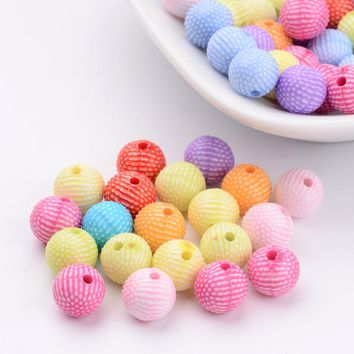 100pcs 8mm Mixed Color Acrylic Pony Beads Mixed Spacer Beads For Jewelry Craft DIY Making, Hole: 1mm