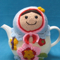 Crochet Pattern Teacosy Matryoshka Tea Cosy Cozy PDF