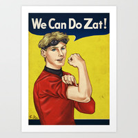 Pavel Chekov (Star Trek) - We Can Do Zat! Art Print by Jess P.