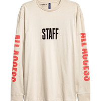 H&M Long-sleeved Printed T-shirt $24.99