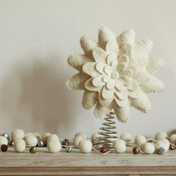 Flower Felt Tree Topper