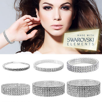 BLING - Swarovski Elements Crystal Bracelets - Single & Multi-Tiered Styles