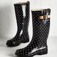 Darling Puddle Jumper Rain Boot in Black Dots